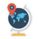 World Map Earth Icon
