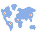 World Map Endemic Icon