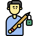 Writer Block Author Block Icon