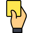 Yellow Card Icon