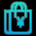 Yen Bag Cart Icon