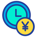 Clock Time Yen Icon