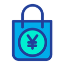 Yen Shopping  Bag Icon