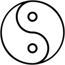 Yin Yang Chinese Symbol Religious Icon