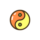 Myin Yang Yin Yang Yinyang Icon