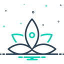 Yoga Flower Concentration Icon