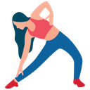 Exercising Girl Fitness Tricks Body Exercise Icon