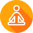 Yoga Meditation Fresh Icon