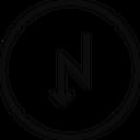 Zigzag Down Location Icon