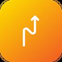 Zigzag Straight Location Icon