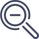 Zoom Out Search Find Icon