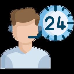 24 hour customer service Icon