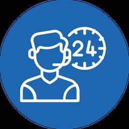 24 hour service Icon