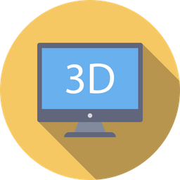 3 D Display Icon