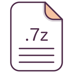 7z, File, Extension, Document, Filetype Icon