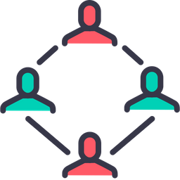 Account, Men, Connection, Group, Link, Company, Structure, Team Icon