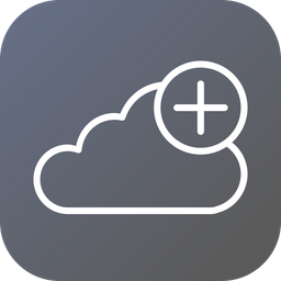 Add, Data, To, Cloud, File, Backup, Server, Online Icon