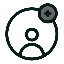 Add User Glyph Icon
