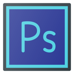Adobe photoshop Logo Icon of Colored Outline style - Available in