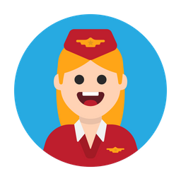 Air Hostess Icon