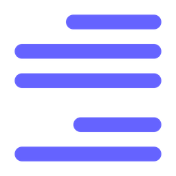 Align Flat Icon