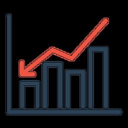 Analysis, Business, Chart, Downfall, Loss, Statics, Market Icon