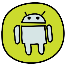 Android Logo Icon Of Doodle Style Available In Svg Png Eps Ai Icon Fonts