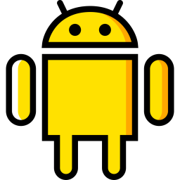 Android Logo Icon of Colored Outline style - Available in SVG, PNG