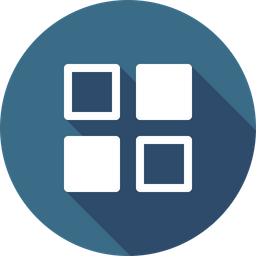 Android, Menu, Grid, App, View, Application, Outline Icon