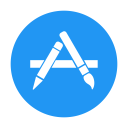Apple App Store Icon Of Flat Style Available In Svg Png Eps Ai Icon Fonts