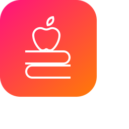 Apple, Fruit, Book, Education, Study, Teaching Icon