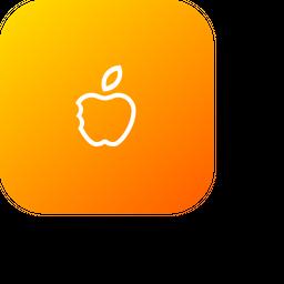 Apple, Fruit, Teaching, Study, Basic, School, Half, Eat Icon