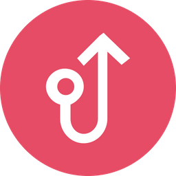 Arrow, Arrows, Connect, Connection, Straight, Circle, Turn Icon png
