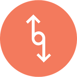 Arrow, Arrows, Connector, Connection, Up, Down, Merge Icon