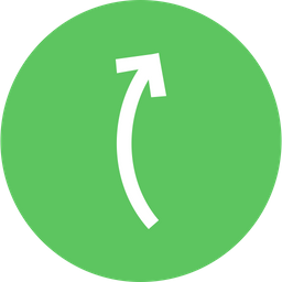 Arrow, Arrows, Curve, Up, Right Icon png