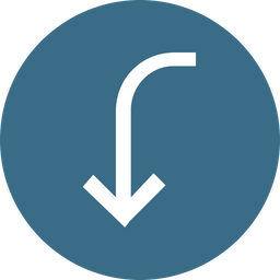 Arrow, Arrows, Down, Way, Turn, Sign Icon png