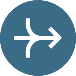 Arrow, Arrows, Right, Connection, Merge, Joint, Way Icon png