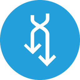Arrow, Arrows, Sign, Cross, Shuffle, Down, Connect Icon png
