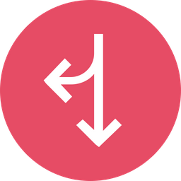 Arrow, Arrows, Twoway, Right, Down, Merge Icon