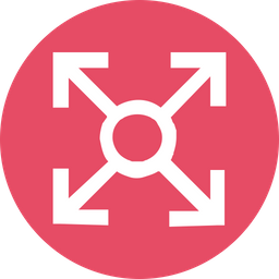 Arrow, Arrows, Up, Down, Left, Right, Circle, Connection Icon png