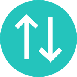 Arrow, Arrows, Up, Down, Straight, Way, Sign Icon