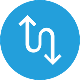 Arrow, Arrows, Up, Down, Traffic, Giveway, Updown Icon