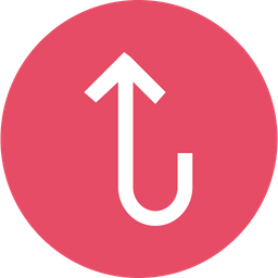 Arrow, Arrows, Up, Turn, Sign, Way Icon png
