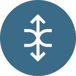 Arrow, Arrows, Updown, Up, Half, Circle, Down Icon png