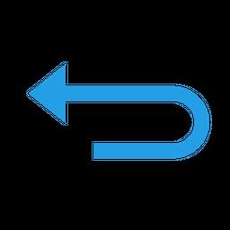 Arrow, Left, Round, Uturn, Straight, Interface, UI Icon