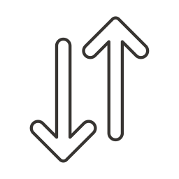 Arrow, Path, Way, Direction, Sign, Up, Down Icon