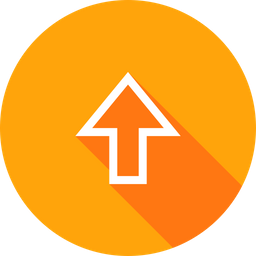 Arrow, Up, Upload, Direction, Way, Side, Sign Icon