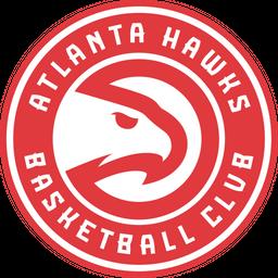 Atlanta Hawks Basketball Club Colored Outline Icon