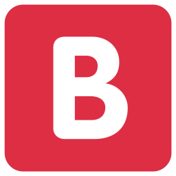 B Icon of Flat style - Available in SVG, PNG, EPS, AI ...