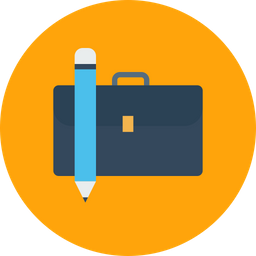 Bag, Briefcase, Folder, Office, Pencil, Stationary, Carry Icon png